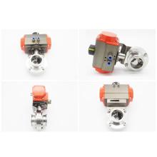 Автоматический клапан-бабочка из нержавеющей стали 1 / 4-10 дюймов с пневматическим приводом