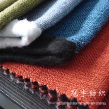 Tissu de lin épais 100% Polyester Compound avec support brossé