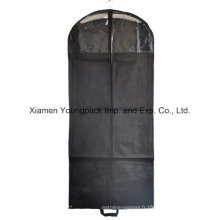 Housse de costume en tissu transparent non tissé noir PP