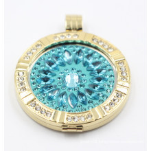 316L Stainless Steel Floating Locket with Interchangeable Coin Plate