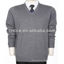 13STC5522 hombre suéter de cachemira con cuello en V suéter