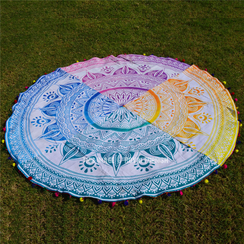 sex women nake beach towel Customize Printed Mandala