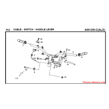 F03 CABO SWITCH PUNHO ALAVADEIRA FIDDLE 125 AW05W-C Para SYM Spare Part Top Quality