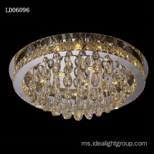 lampu kristal drop chandelier lightings pereka moden