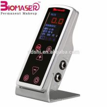 CNC Aluminum touch tattoo machine, biomaser tattoo power supply for tattoo device