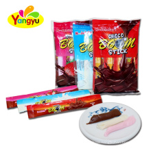4g choco boom stick chocolate soft candy cacao material milk and strawberry flavor