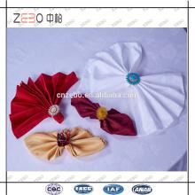 100% Polyester Leinen Stoff Dekoration Fancy Dinner Tisch Servietten für Hotel verwendet