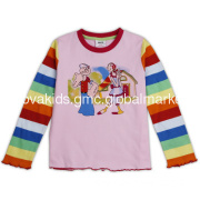 Ready made cute kid cothes long sleeve girls t shirt