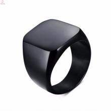 Moda desenhos de aço inoxidável um anel de dedo preto