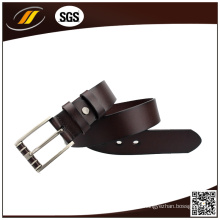 Hot Selling Men's Style em relevo Pattern Leather Pin Buckle Belt OEM (HJ3004)