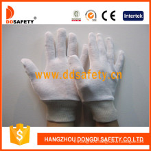 100% Bleach Cotton Interlock Gloves with Reversible with Knit Wrist Dch104