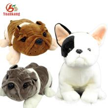 Personalizado Promocional Hermoso Nuevo Estilo Realista Peluches Suaves Shar pei Doll Inglés Barking Bulldog Francés Peluche de Juguete Para Perro