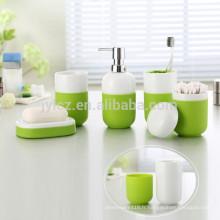 Ensembles de salle de bain en céramique avec base en silicone antidérapante