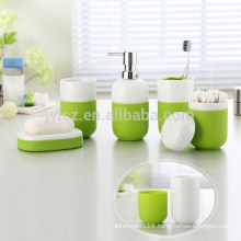 Ceramic Bathroom sets with non-slip silicone base