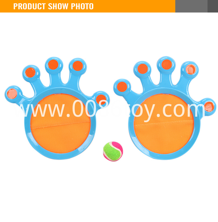 Popular baby plastic velcro catch ball