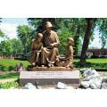 Mère et enfant en bronze Sculpture
