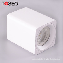 GU10 square aluminum lamp shade mounted downlight light housing