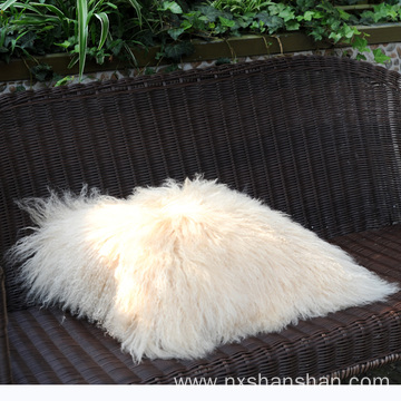 Home Decorative Custom Size Lamb Fur Cushion Cover