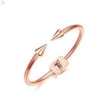 Novo Simples Aço Inoxidável Seta Cuff Bangle Nail Bracelet