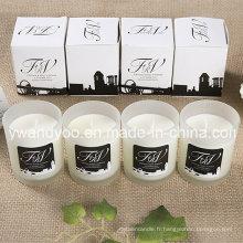 Bougie en verre parfumée promotionnelle de soja mini