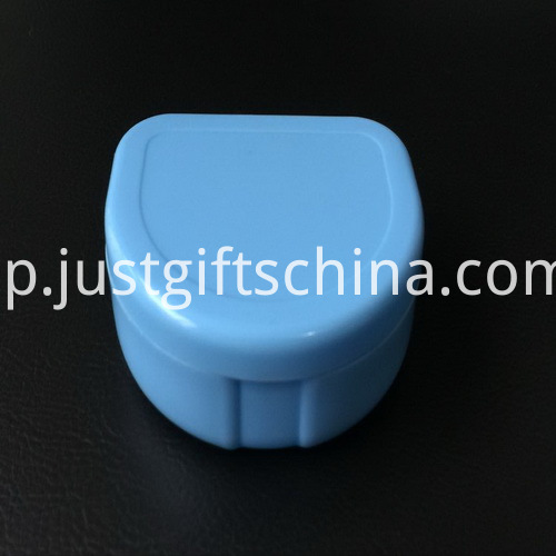 Promotional Flat Blue Color Denture Box_2