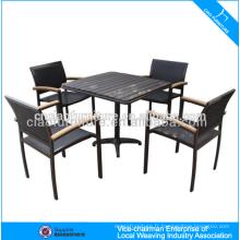 PS-bois extérieur sur la table et les chaises de pub 646 + 8604