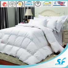 300tc Blanco 100% Algodón Stripe Hotel / Hogar Cama Queen Ropa de cama