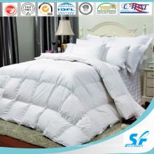 300tc Branco 100% Algodão Stripe Hotel / Home Cama Queen Roupa de cama