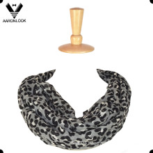 Fashion Leopard Print 100 Polyester Infinity Scarf