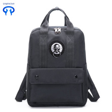 New style badge backpack college style shoulders