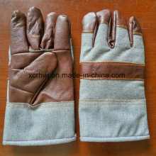 Leather Winter Working Warm Gloves,Cow Grain Leather Fleecy Lined Winter Warm Working Gloves