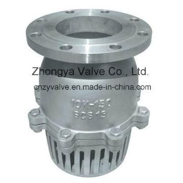 Válvula de pie de acero inoxidable JIS 10k / 150lb