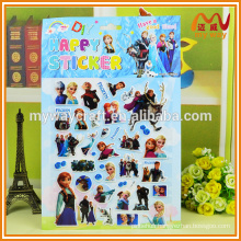 3d cute printable cartoon sticker puffy for sale