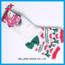 Colourful Pattern OEM Lady's Microfiber Christmas Socks