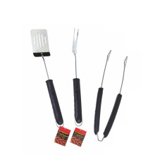 Set di 3 corde per barbecue in acciaio inossidabile