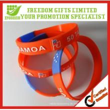 Günstigen Preis verschenken Logo gedruckt benutzerdefinierte Silikon-Armband