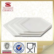 Assiette en porcelaine blanche, assiette de restaurant, assiettes de buffet écologiques