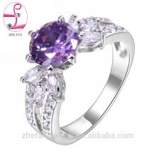 Türkische Verlobungsringe mit hohem Rand kaufen Schmuck Großhandel Amethyst Ring