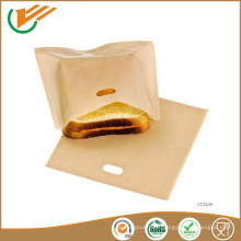 eliminate cross contamination super clean ptfe coated pie, burger easy clean toast bag
