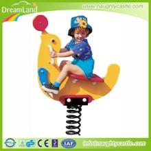 plastic spring rocking horse riding toy for kids