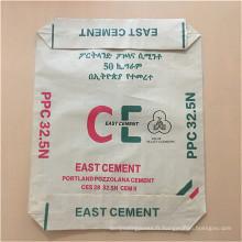 sac de ciment enduit par pp de plastique