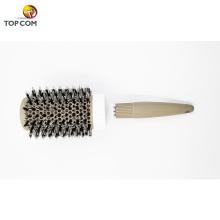 Brosse ronde, Brosse à cheveux en céramique nano-thermique et ionique Tech, Brosse à baril rond avec poils de sanglier, Améliorer la texture pour le séchage des cheveux