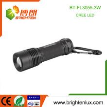 Factory Bulk Verkauf Outdoor Emergency Used 3 * aaa Batterie Metall Material Zoom 3watt Cree XPE R3 führte High Power Taschenlampe