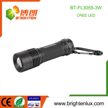 Factory Bulk Sale Emergency Emergency Used 3 * aaa Battery Metal Matériau Zoom 3watt Cree XPE R3 Led High Power Flashlight Torch