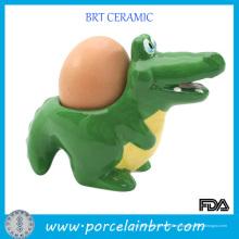 Novedad Alligator Ceramic Kitchen Egg Cup Holder