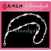 Meilleur vendeur Handmade Bling Sparkling Crystal Lanyard perlé porte-clés