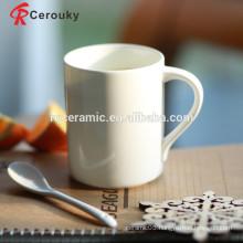Plain white wholesale bone china mug