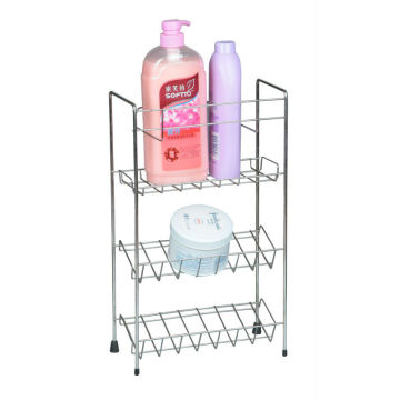 Unidad de estantería de almacenamiento de baño blanco con 3 estantes
