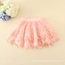 precio barato niñas faldas de buena calidad blanco diario trajes bordado material suave chidlren faldas prendas de vestir de verano