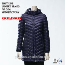 2017 Fashion oil cire long woman hooded down coat
